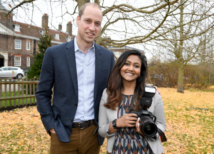 HRH PRINCE WILLIAM AND PHOTOGRAPHER SAMIA MEAH TODAY PICTURE JEREMY SELWYN 08/12/2016